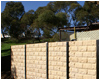 bedrock style retaining wall
